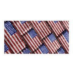 Usa Flag Grunge Pattern Satin Wrap