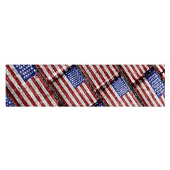 Usa Flag Grunge Pattern Satin Scarf (Oblong)