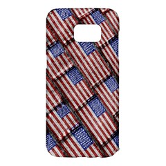 Usa Flag Grunge Pattern Samsung Galaxy S7 Edge Hardshell Case