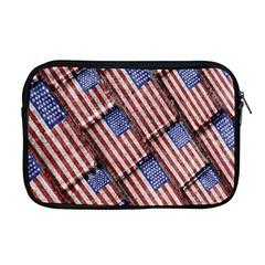 Usa Flag Grunge Pattern Apple MacBook Pro 17  Zipper Case