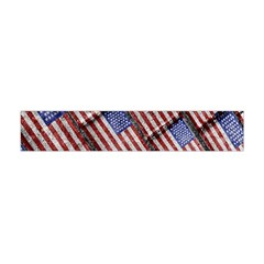 Usa Flag Grunge Pattern Flano Scarf (Mini)