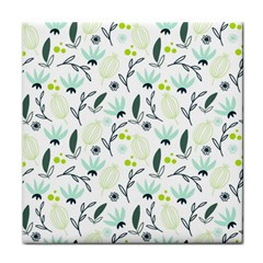 Hand drawm seamless floral pattern Tile Coasters