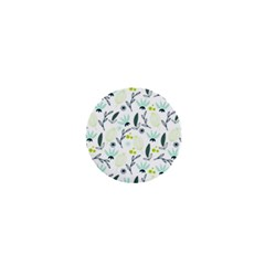 Hand drawm seamless floral pattern 1  Mini Buttons