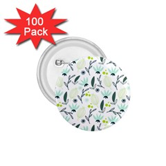 Hand drawm seamless floral pattern 1.75  Buttons (100 pack)
