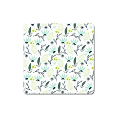 Hand drawm seamless floral pattern Square Magnet