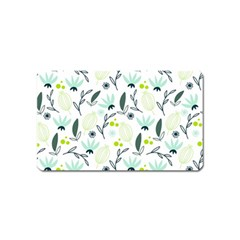 Hand drawm seamless floral pattern Magnet (Name Card)