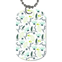 Hand drawm seamless floral pattern Dog Tag (Two Sides)