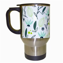 Hand drawm seamless floral pattern Travel Mugs (White)