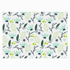 Hand drawm seamless floral pattern Large Glasses Cloth (2-Side)