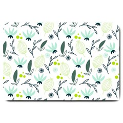 Hand drawm seamless floral pattern Large Doormat