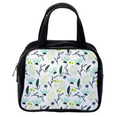 Hand drawm seamless floral pattern Classic Handbags (One Side)