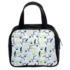 Hand drawm seamless floral pattern Classic Handbags (2 Sides)