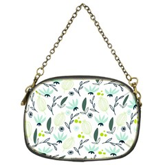 Hand drawm seamless floral pattern Chain Purses (One Side)