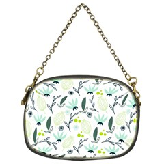 Hand drawm seamless floral pattern Chain Purses (Two Sides)