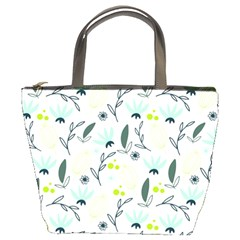 Hand drawm seamless floral pattern Bucket Bags