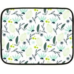 Hand drawm seamless floral pattern Double Sided Fleece Blanket (Mini)