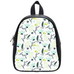 Hand drawm seamless floral pattern School Bags (Small)