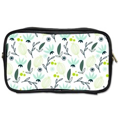 Hand drawm seamless floral pattern Toiletries Bags 2-Side