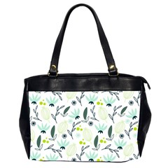Hand drawm seamless floral pattern Office Handbags (2 Sides)