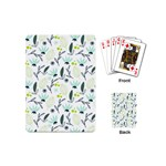 Hand drawm seamless floral pattern Playing Cards (Mini)  Back