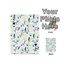 Hand drawm seamless floral pattern Playing Cards 54 (Mini)