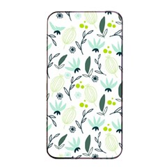 Hand drawm seamless floral pattern Apple iPhone 4/4s Seamless Case (Black)