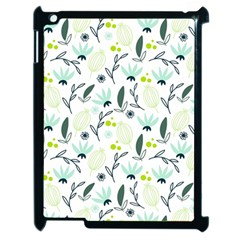 Hand drawm seamless floral pattern Apple iPad 2 Case (Black)