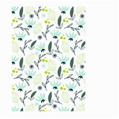 Hand drawm seamless floral pattern Large Garden Flag (Two Sides)
