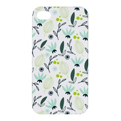 Hand drawm seamless floral pattern Apple iPhone 4/4S Premium Hardshell Case