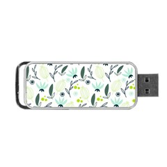 Hand drawm seamless floral pattern Portable USB Flash (One Side)