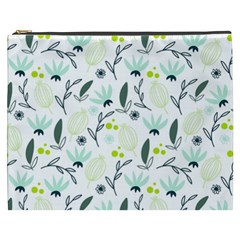 Hand drawm seamless floral pattern Cosmetic Bag (XXXL)