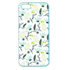 Hand drawm seamless floral pattern Apple Seamless iPhone 5 Case (Color)