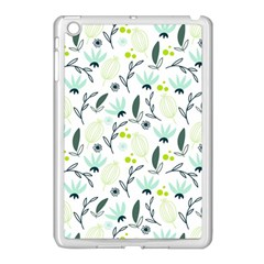 Hand drawm seamless floral pattern Apple iPad Mini Case (White)
