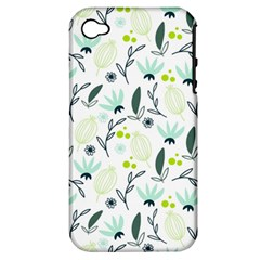 Hand drawm seamless floral pattern Apple iPhone 4/4S Hardshell Case (PC+Silicone)