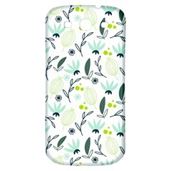 Hand drawm seamless floral pattern Samsung Galaxy S3 S III Classic Hardshell Back Case