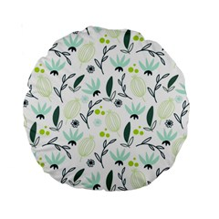 Hand drawm seamless floral pattern Standard 15  Premium Round Cushions