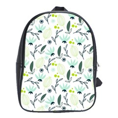 Hand drawm seamless floral pattern School Bags (XL)