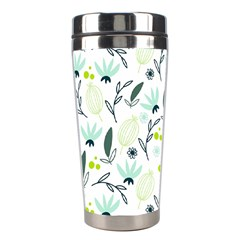 Hand drawm seamless floral pattern Stainless Steel Travel Tumblers