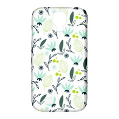 Hand drawm seamless floral pattern Samsung Galaxy S4 Classic Hardshell Case (PC+Silicone)