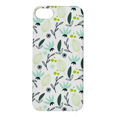 Hand drawm seamless floral pattern Apple iPhone 5S/ SE Hardshell Case
