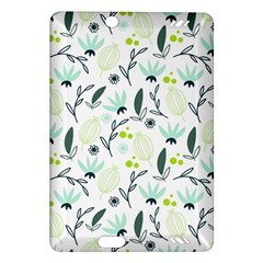 Hand drawm seamless floral pattern Amazon Kindle Fire HD (2013) Hardshell Case