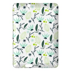 Hand drawm seamless floral pattern Kindle Fire HDX Hardshell Case