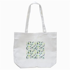 Hand drawm seamless floral pattern Tote Bag (White)