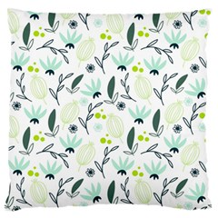 Hand drawm seamless floral pattern Large Flano Cushion Case (Two Sides)