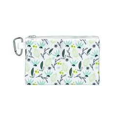 Hand drawm seamless floral pattern Canvas Cosmetic Bag (S)