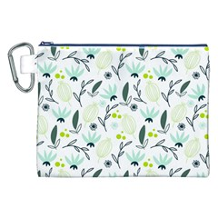 Hand drawm seamless floral pattern Canvas Cosmetic Bag (XXL)