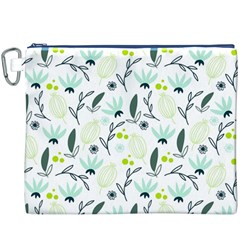 Hand drawm seamless floral pattern Canvas Cosmetic Bag (XXXL)