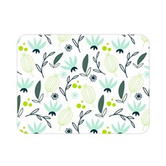 Hand drawm seamless floral pattern Double Sided Flano Blanket (Mini)