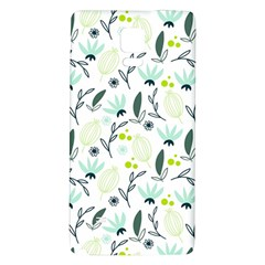 Hand drawm seamless floral pattern Galaxy Note 4 Back Case