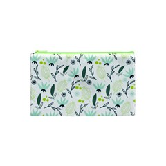 Hand drawm seamless floral pattern Cosmetic Bag (XS)